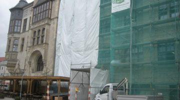 Dessau | Sanierungs Westfassade Rathaus